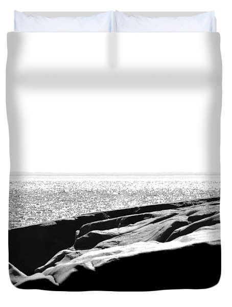 Fishers By The Sea Duvet Cover by Matthew Blum