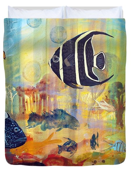 Fishes Duvet Cover by Robin Maria Pedrero
