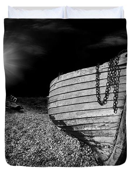 Fishing Boat Graveyard 5 Duvet Cover by Meirion Matthias