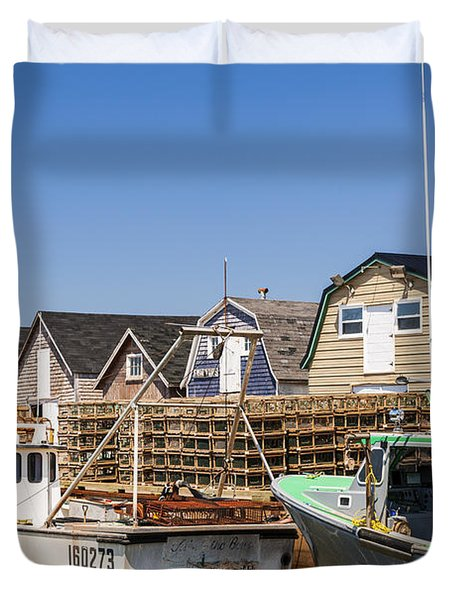 Fishing Boats Docked In Prince Edward Island  Duvet Cover