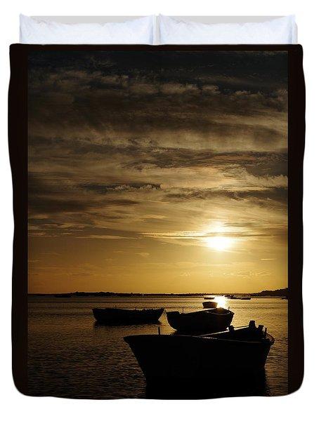 Fishing Boats In Cacela Velha Duvet Cover