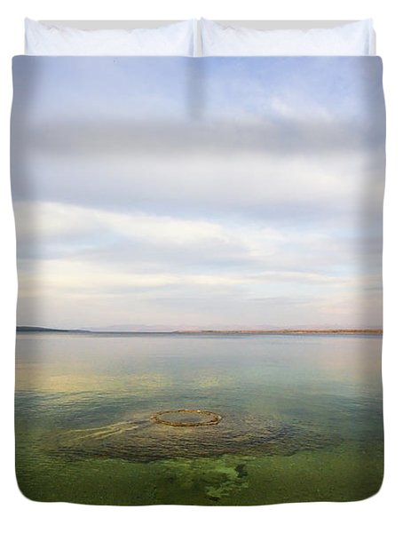 Fishing Cone At Sunset Duvet Cover