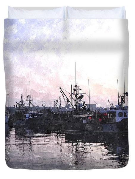Fishing Fleet Ffwc Duvet Cover by Jim Brage