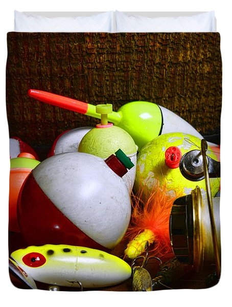 Fishing - Freshwater Tackle Duvet Cover by Paul Ward