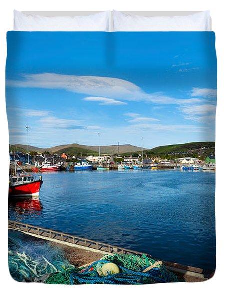 Fishing Harbor, Dingle Harbour, Dingle Duvet Cover
