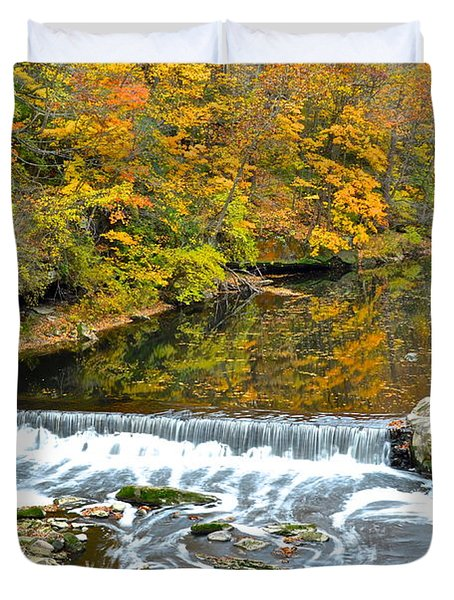 Fishing Is Relaxing Duvet Cover by Frozen in Time Fine Art Photography
