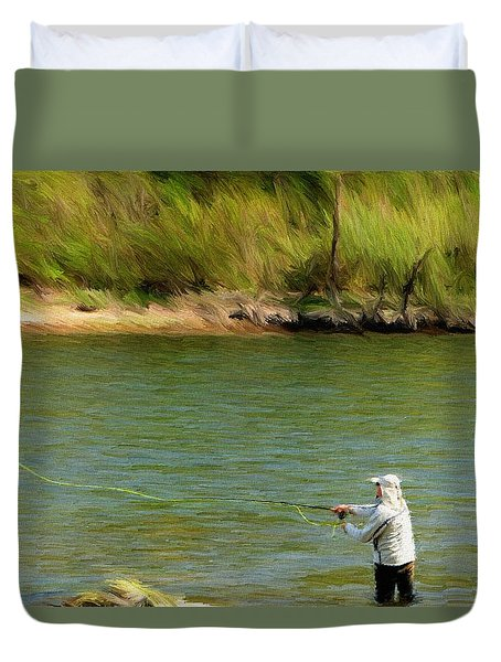 Fishing Lake Taneycomo Duvet Cover by Jeffrey Kolker