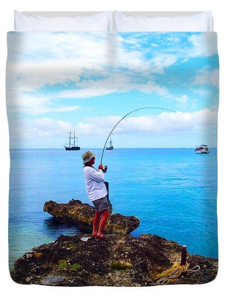 Fishing Paradise Duvet Cover