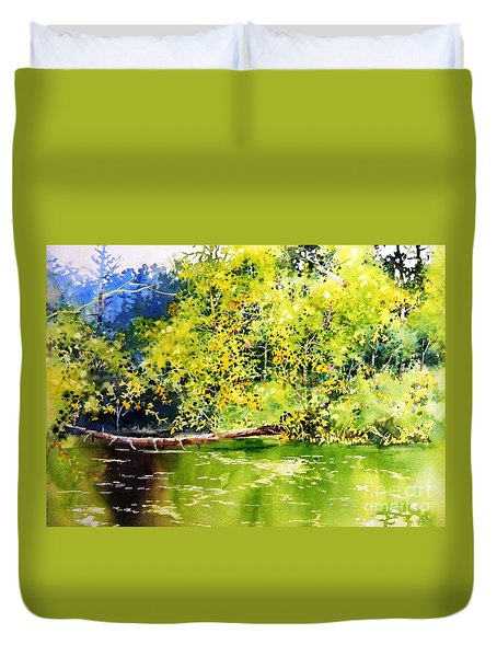 Fishing Pond Duvet Cover