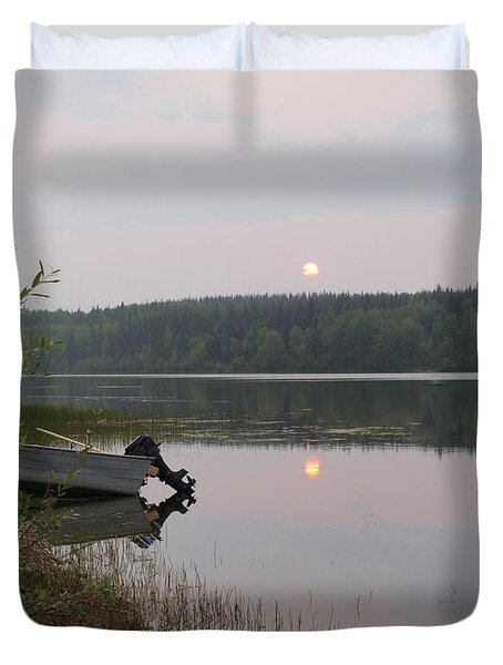 Fishing Tranquility Duvet Cover