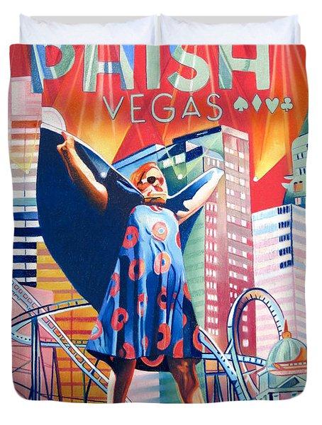 Fishman In Vegas Duvet Cover by Joshua Morton
