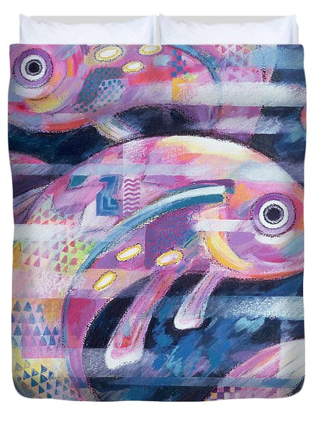 Fishstream Duvet Cover by Sarah Porter