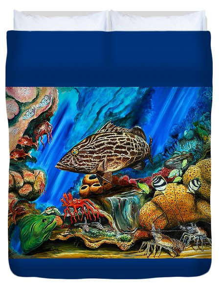 Fishtank Duvet Cover by Steve Ozment