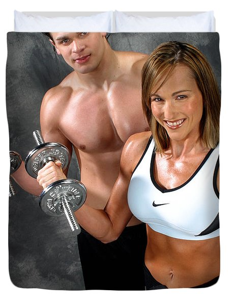 Fitness Couple 17-2 Duvet Cover by Gary Gingrich Galleries
