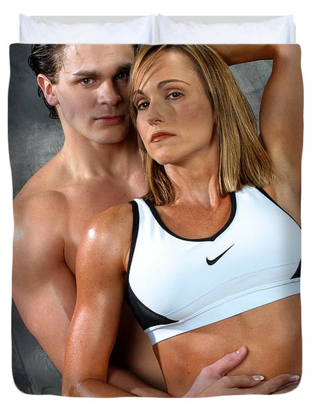 Fitness Couple 27 Duvet Cover by Gary Gingrich Galleries
