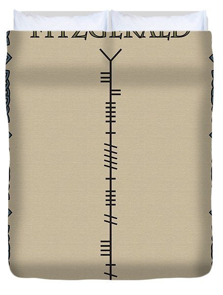 Fitzgerald Written In Ogham Duvet Cover