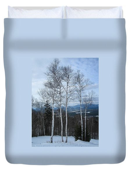 Five Birch Trees Duvet Cover
