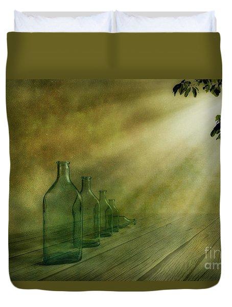 Five Bottles Duvet Cover by Veikko Suikkanen