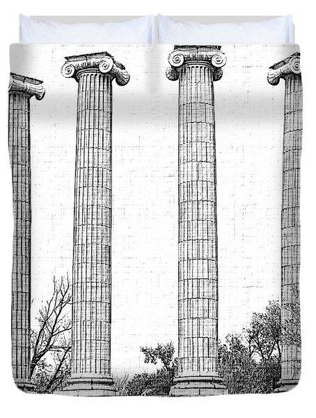 Five Columns Sketchy Duvet Cover by Debbie Portwood