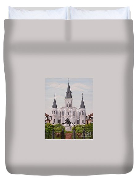 Five Fifteen In New Orleans Duvet Cover