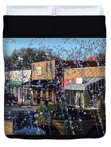 Duvet Cover featuring the photograph Five Points by Joseph C Hinson Photography
