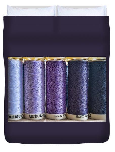 Five Times Purple Duvet Cover