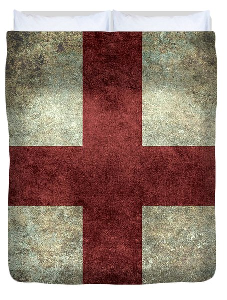 Flag Of England St Georges Cross Vintage Version To Scale Duvet Cover