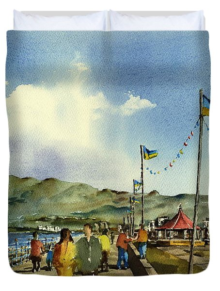 As I Walk Along The Promenade With An Independant Air  ....... Duvet Cover