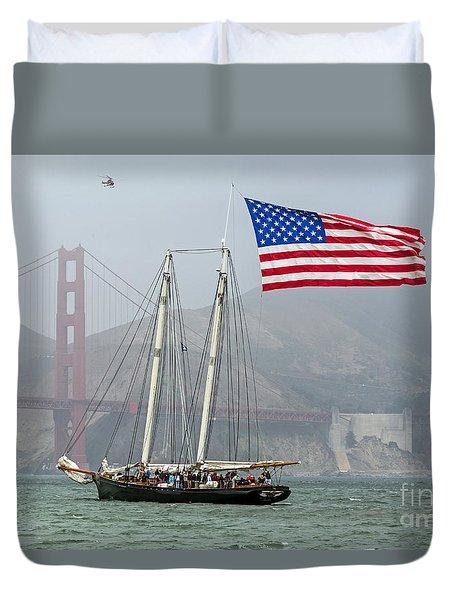 Flag Ship Duvet Cover