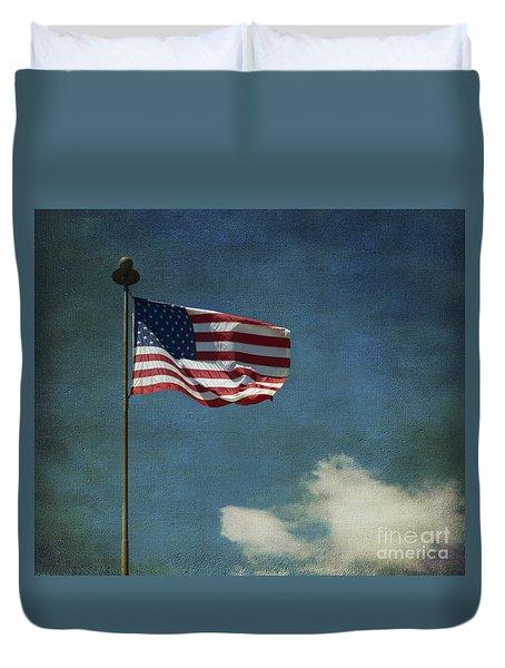 Flag - Still Standing Proud - Luther Fine Art Duvet Cover
