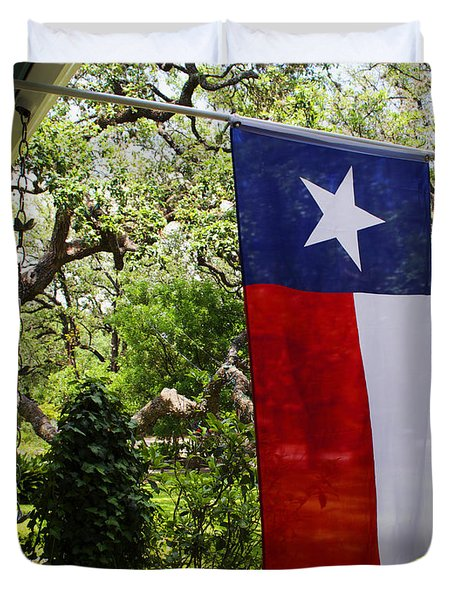 Texas The Lone Star State -  Luther Fine Art Duvet Cover