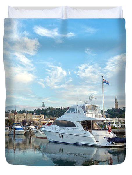 Flag View II Duvet Cover by James  Meyer