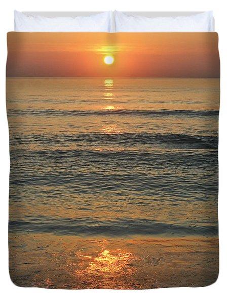 Flagler Beach Sunrise Duvet Cover