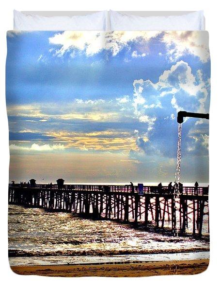 Flagler Pier Heaven Duvet Cover