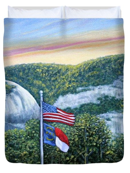 Flags At Sunset Duvet Cover
