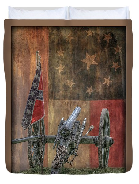 Flags Of The Confederacy Duvet Cover