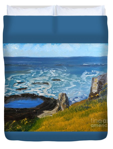 Flagstaff Point  Duvet Cover