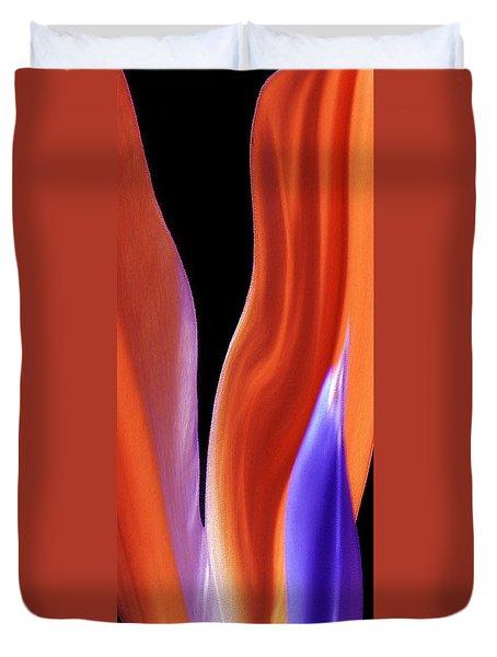 Flame - Bird Of Paradise   Duvet Cover by Ben and Raisa Gertsberg
