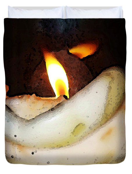 Flame Candle Art Duvet Cover by Sharon Cummings