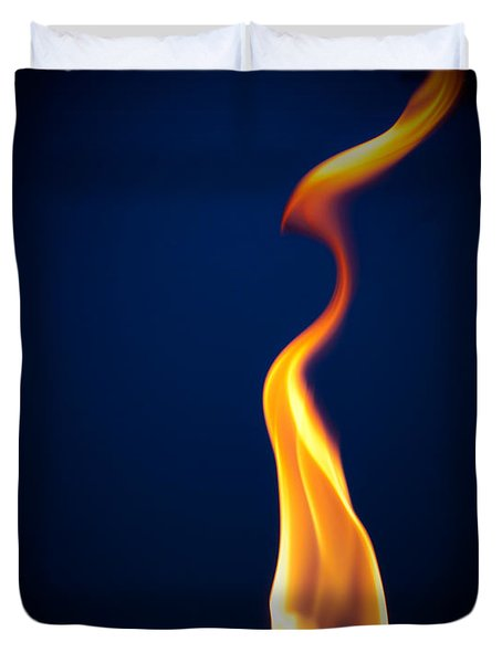 Flame Duvet Cover by Darryl Dalton