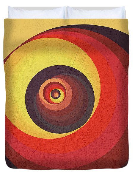 Duvet Cover featuring the digital art Flame Meditation On A Yellow Wall by Deborah Smith