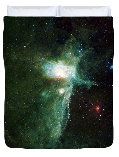 Flame Nebula Duvet Cover by Adam Romanowicz