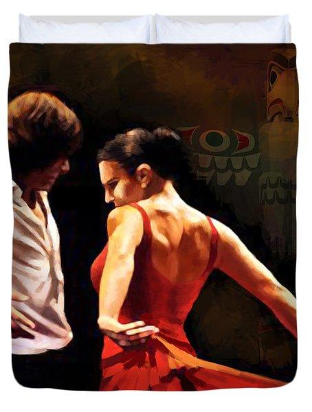 Flamenco Dancer 012 Duvet Cover by Catf