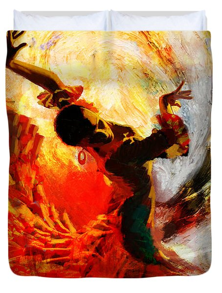 Flamenco Dancer 021 Duvet Cover by Mahnoor Shah
