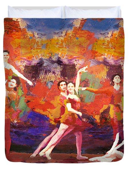 Flamenco Dancer 022 Duvet Cover by Catf