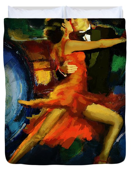 Flamenco Dancer 029 Duvet Cover