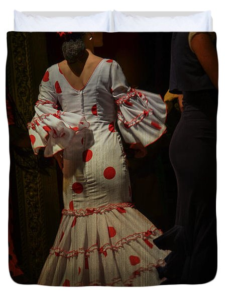 Flamenco Dancer #14 Duvet Cover by Mary Machare