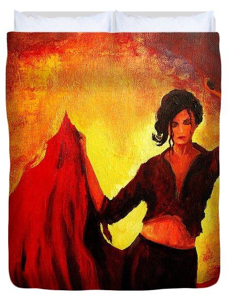 Flamenco Dancer Duvet Cover