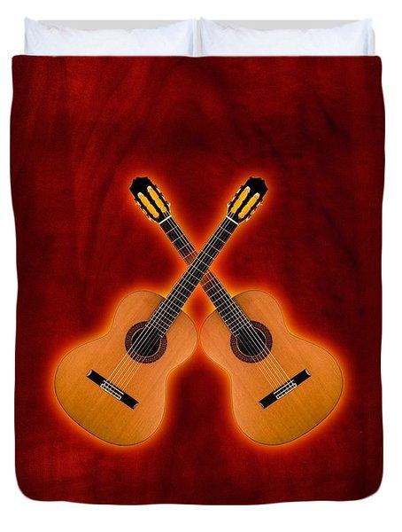 Flamenco  Guitar  Duvet Cover by Doron Mafdoos