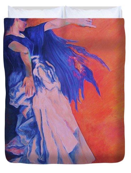 Flamenco-john Singer-sargent Duvet Cover